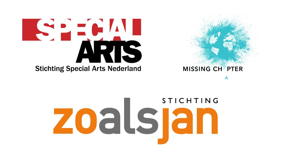 Logo's van Special Arts, Missing Chapter Foundation en Stichting zoalsjan.